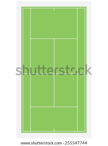 tennis field  court with green
