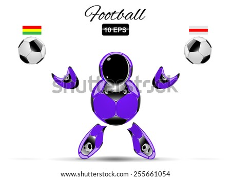 football or soccer character
