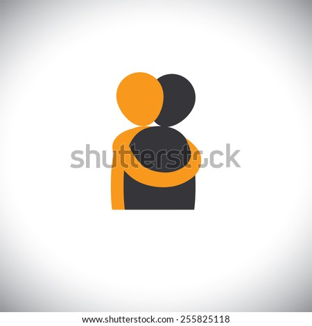 people hug each other  friends