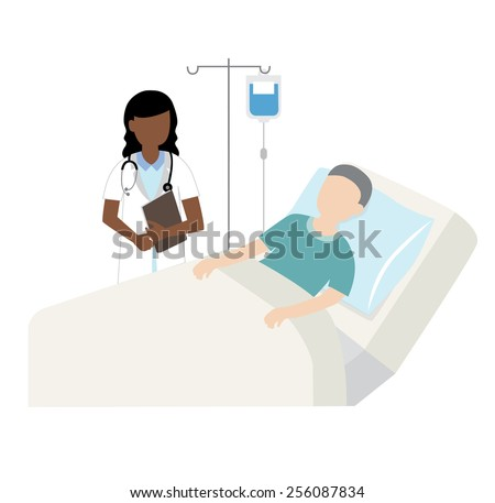 patient in hospital bed with