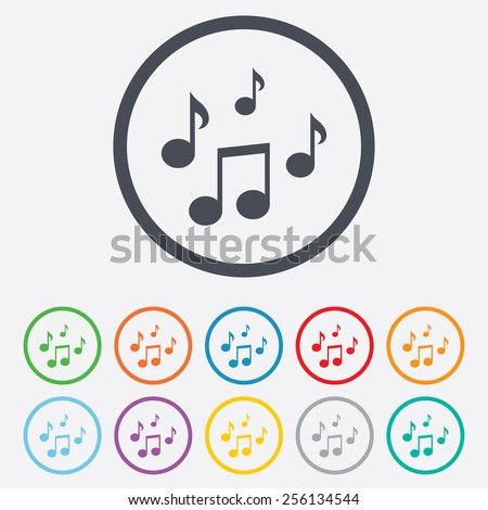 music notes sign icon musical