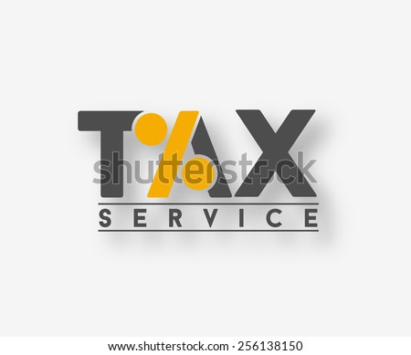 tax service vector logo and