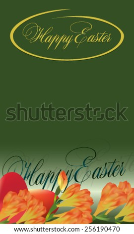 easter card with freesia on