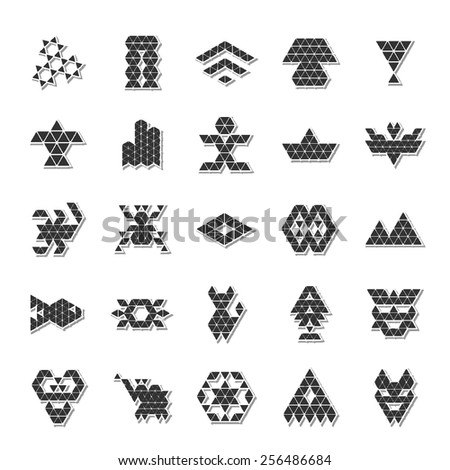 abstract polygonal icon set 1