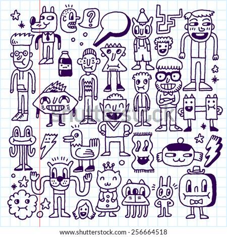 cartoon wacky doodle set 1