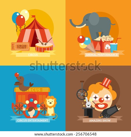 circus design concept set with