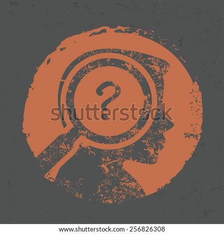 question design on grunge