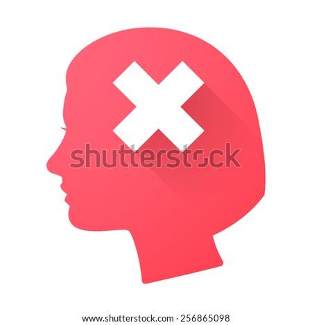 illustration of a female head