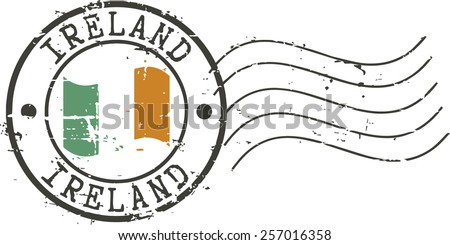 postal grunge stamp 'ireland'