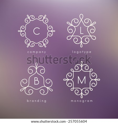 vector linear monograms simple