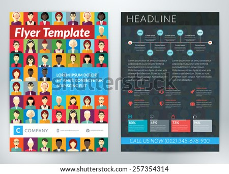 vector abstract business flyer
