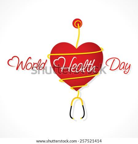 happy world health day design