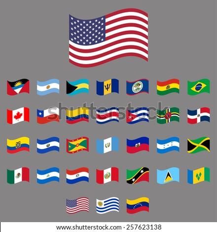 american  waving vector flag