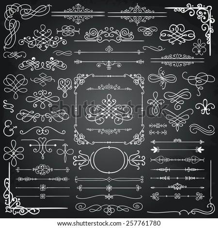 chalk drawing doodle design