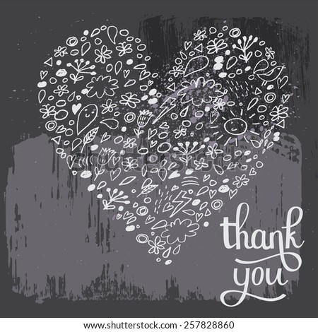 stunning thank you card in