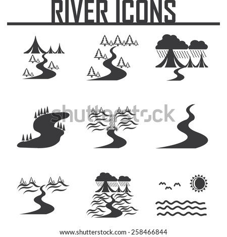 river  and landscape icons