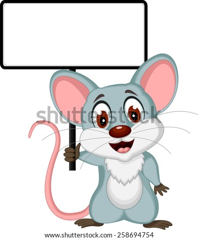 mouse cartoon posing with