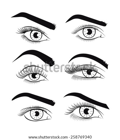 vector template eyes vector