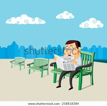man on a bench and reading a