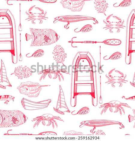 vector hand drawn pattern with