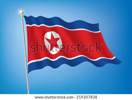 vector art flags waving