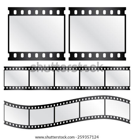 vector film strips   waveform