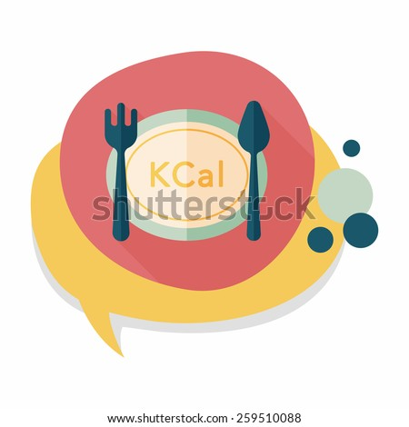 calories diet flat icon with
