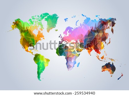 map  world  country  triangular