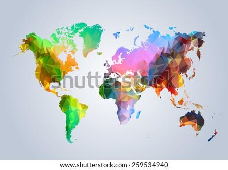 map  world  country  triangular