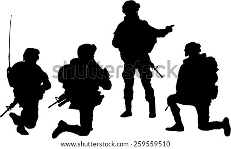 silhouette of soldier mission