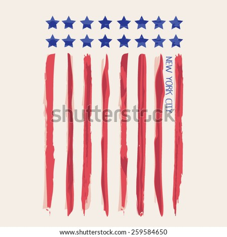 america flag illustration  t