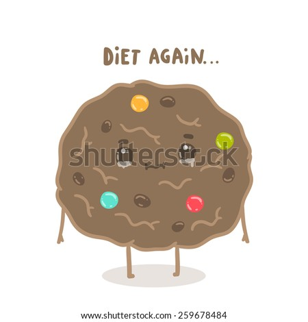 diet againfunny cartoon