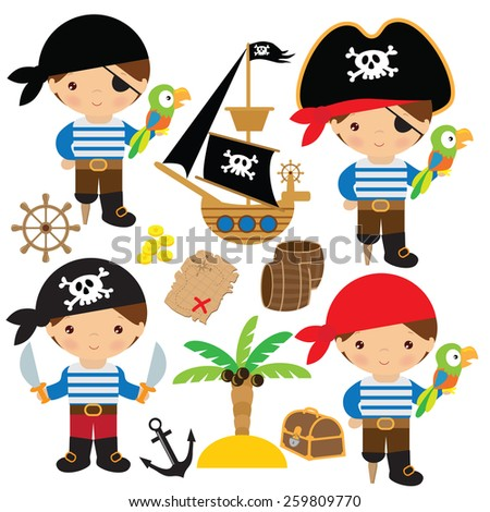 little pirate vector