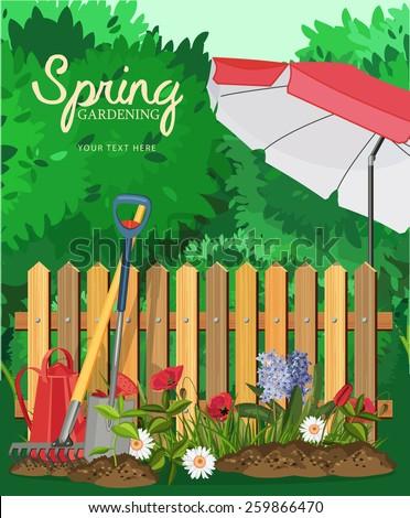 spring garden poster design