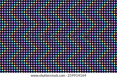 wave series of colored dots