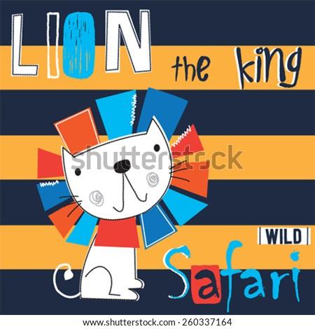 lion cartoon  striped
