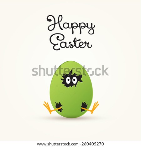 happy easter vector with
