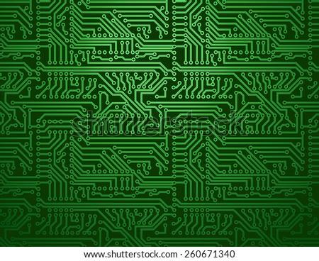 vector circuit board green