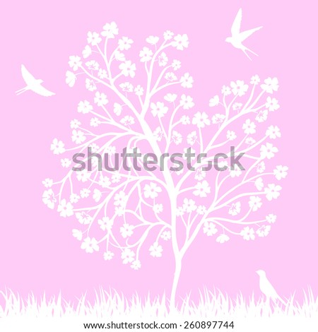 spring background with blooming