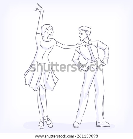 latin fast ballroom dances man