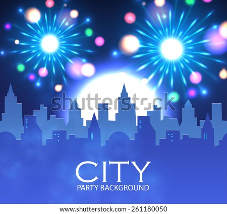 city party with spotlights