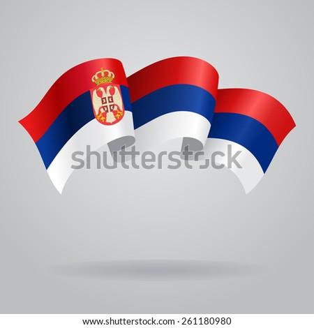 serbian waving flag vector