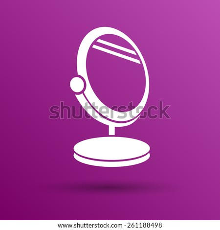 mirror icon vector isolated