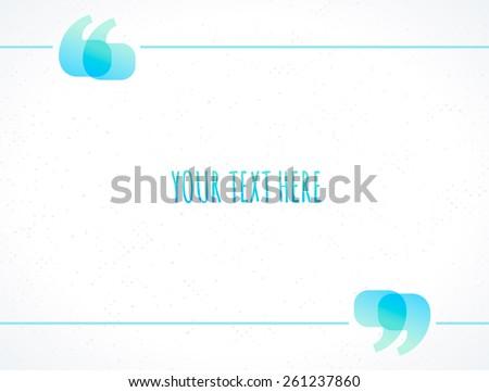 shiny quotation marks vector