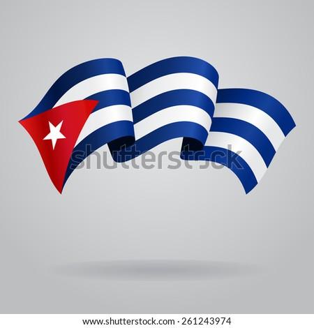 cuban waving flag vector