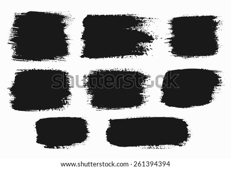 vector grunge brush strokes