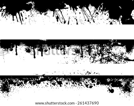grunge edges vector set