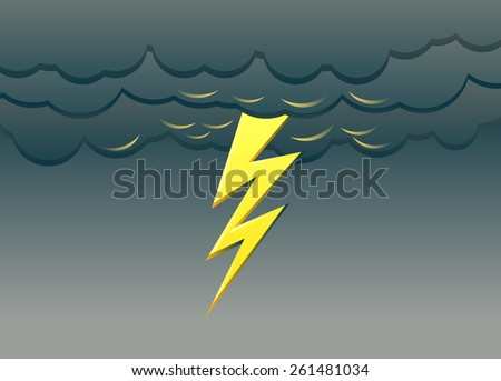 lightning vector illustration
