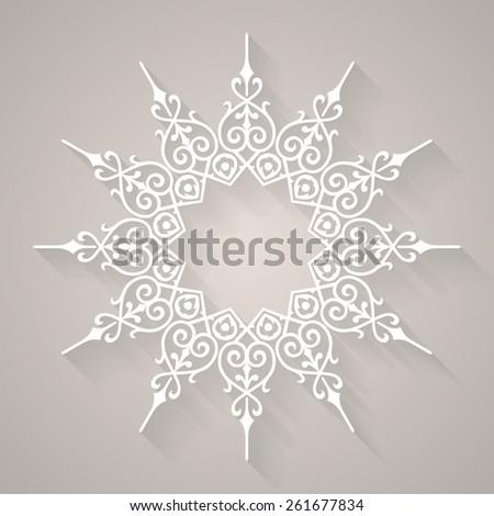 round pattern mandala abstract