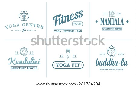 set of vector yoga sport